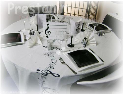 pour mon mariage d corations mariage sur la musique. Black Bedroom Furniture Sets. Home Design Ideas